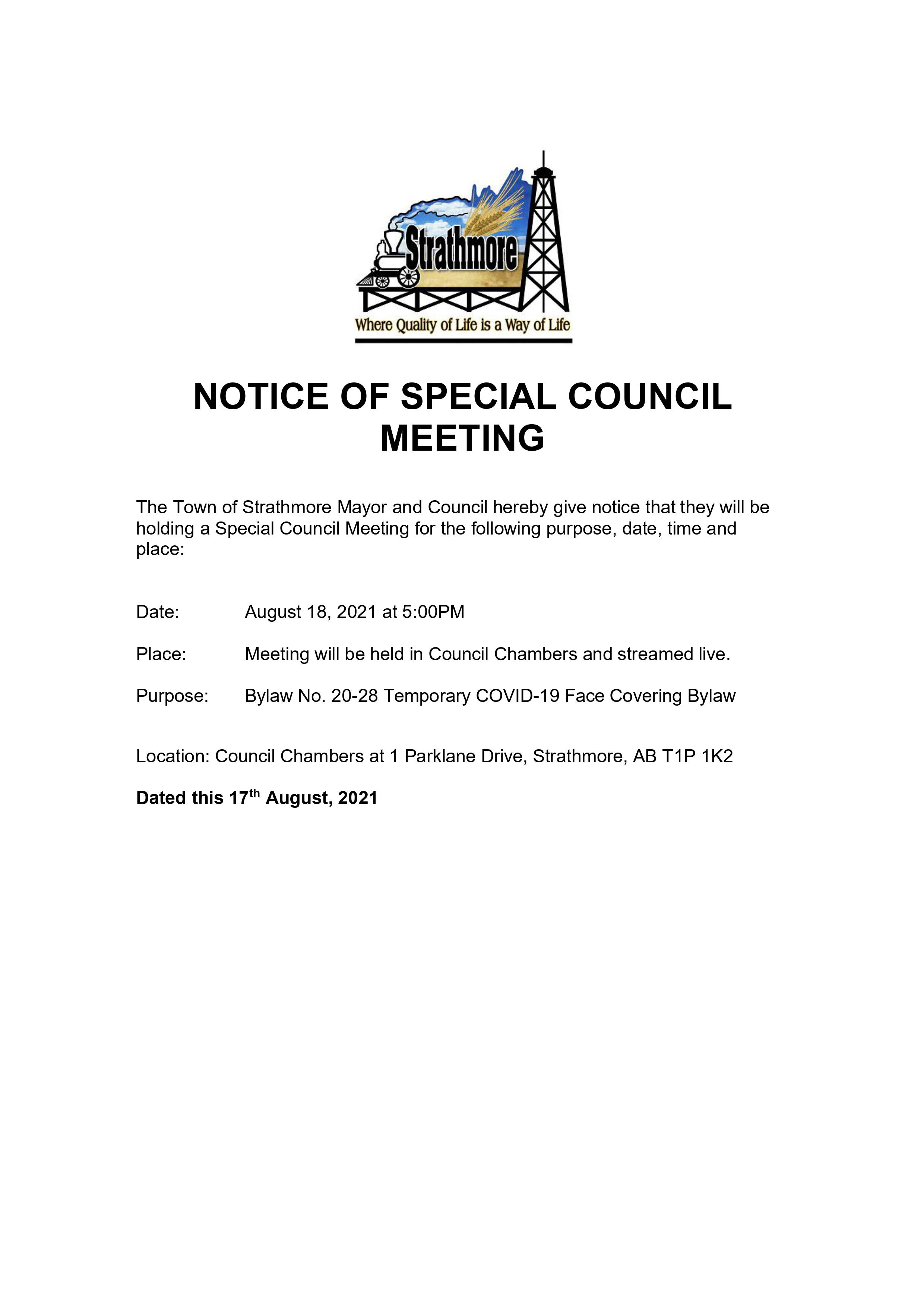 Poster for notice of meeting