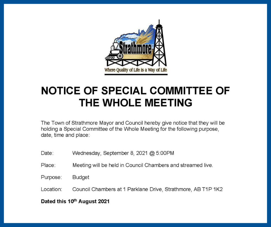 Notice of Meeting Poster